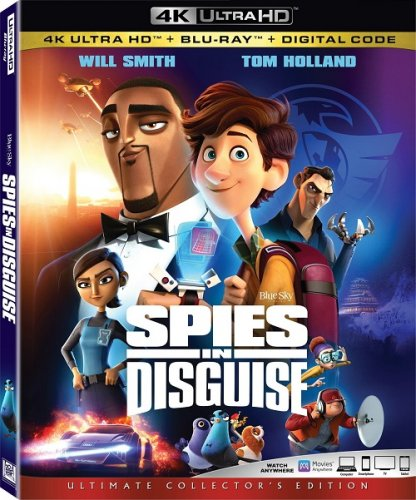 Постер к Камуфляж и шпионаж / Spies in Disguise (2019) UHD BDRemux 2160p от селезень | 4K | HDR | iTunes